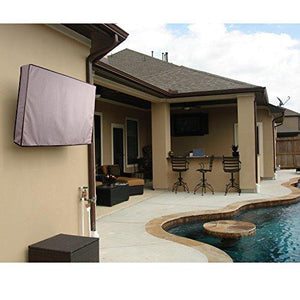 Khomo Outdoor Tv Cover Grey Universal Protector For 40 42 Lcd Led Plasma Television Sets