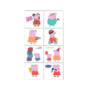 Amscan Peppa Pig Children S Temporary Tattoos Gift Pack 16 Pieces Birthday 2 X 1 3/4 Inch