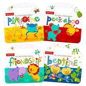 "Fisher-Price ""My First Books"" Set Of 4 Baby Toddler Board Books"
