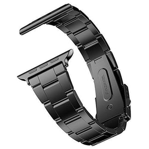 Jetech 38Mm Stainless Steel Strap Wrist Band Replacement W/ Metal Clasp For Apple Watch All Models (Black)