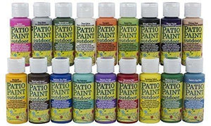 Decoart Acrylic Patio Paint Fan Favorites Sampler Set