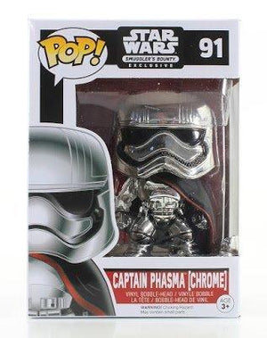 Funko Star Wars Captain Phasma Chrome Pop! Smugglers Bounty Exclusive 91
