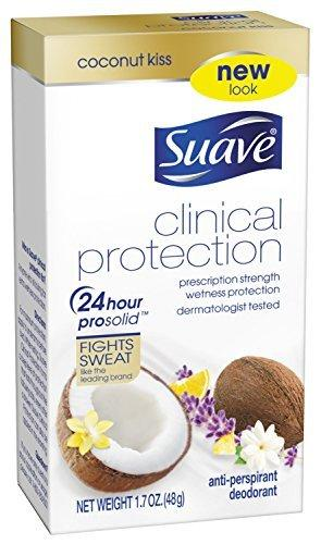 Suave Clinical Antiperspirant Deodorant, Coconut Kiss, 1.7 Ounce