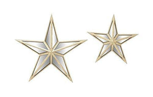 Deco 79 18198 Alluring Metal Mirror Wall Star, Set Of 2