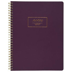 "Mead Cambridge Meeting Notebook / Journal Purple 80 Twinwire Sheets 9 1/2"" X 7 1/4"" Inches (49556)"