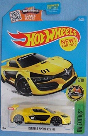 Hot Wheels, 2016 Hw Exotics, Renault Sport R.S. 01 [Yellow] Die-Cast Vehicle 79/250