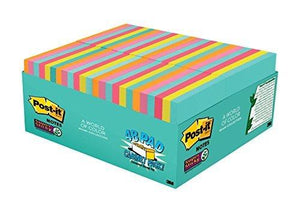 "Post-It Super Sticky Notes, 3"" X 3"", 48 Pads Per Pack, 70 Sheets Per Pad"