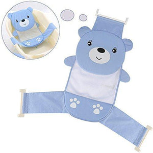 Yosoo Adjustable Thicken Newborn Baby Bath Seat Support Net Bathtub Rings For Tub (Blue Bear)