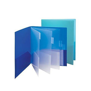 Smead Poly Subject File Folder, 10 Pockets, Letter Size, Assorted Colors, 2/Pack (89204)