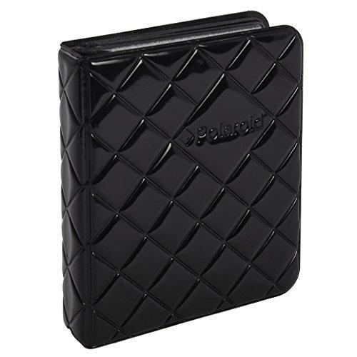 Polaroid 64-Pocket Photo Album W/ Sleek Quilted Cover For Zink 2X3 Photo Paper (Snap Zip Z2300)Black