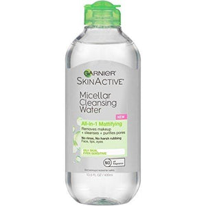 Garnier Skinactive Micellar Cleansing Water Mattifying For Oily Skin, 13.5 Fl. Oz.