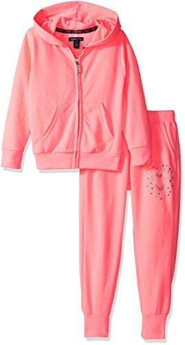 Limited Too Baby Girls' 2 Piece Jog Set, Neon Light Coral, 24M