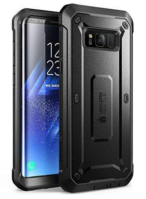 Supcase Galaxy S8 Case Full-Body Rugged Holster Case Without Screen Protector - Black