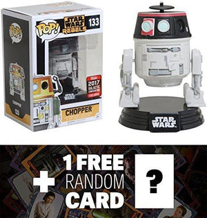Chopper (2017 Galactic Convention Exclusive): Funko Pop! X Star Wars Vinyl Figure + 1 Free Official Star Wars Trading Card