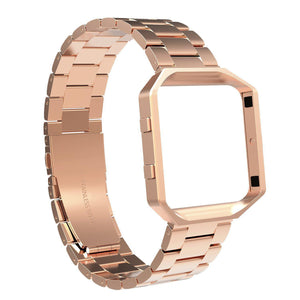 Austrake Stainless Steel Replacement Bands with Frame for Fitbit Blaze Smart Fitness Watch