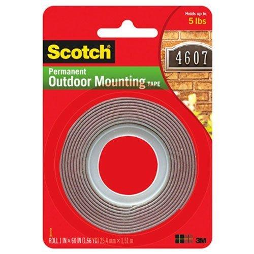 3M Scotch Exterior Mounting Tape 1Inch By 60Inch