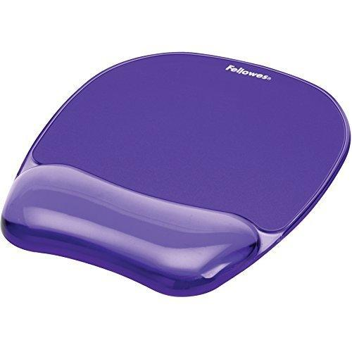 Fellowes Gel Crystal Transparent Mousepad And Wrist Rest - Purple