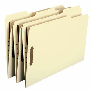 Smead Fastener File Folders - Legal - 2 Fasteners - Manila - 50 Per Box (19537)