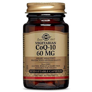 Solgar Vegetarian Coq-10 Vegetable Capsules, 60 Mg, 30 Count