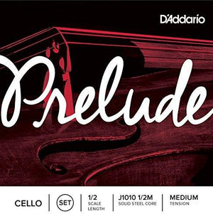 D'Addario Prelude Cello String Set 1/2 Scale - Medium Tension