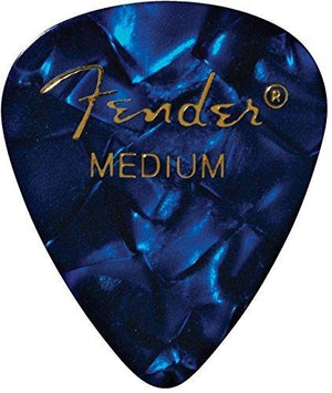 Fender 351 Premium Celluloid Guitar Picks 12 Pack Blue Moto Medium