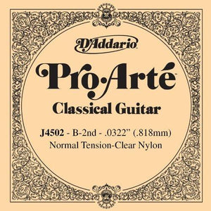 D'Addario J4502 Pro-Arte Nylon Classical Guitar Single String