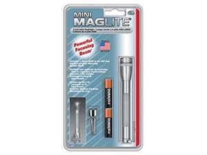 Maglite M3A096 Aaa Mini Flashlight, Gray