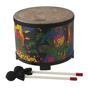 Remo Kids Percussion Floor Tom Drum - Fabric Rain Forest, 10""