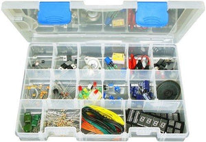 Elenco Component Kit With Storage Case And Assorted Electronic Components