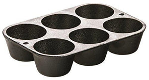Lodge L5P3 Cast Iron Cookware Muffin/Cornbread Pan, Pre-Seasoned