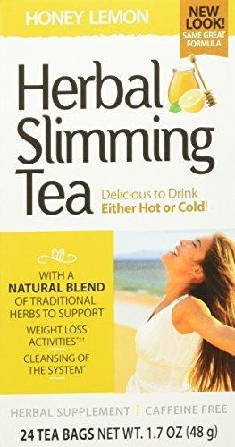 21St Century Slimming Tea, Honey Lemon, 24 Count