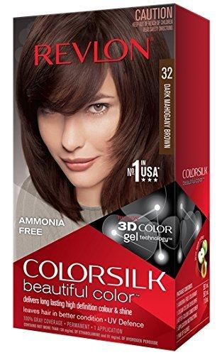 Revlon Colorsilk Beautiful Color Hair Color, Dark Mahogany Brown