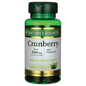 Nature'S Bounty Cranberry Fruit Plus Vitamin C, 4200mg (120 Softgels)