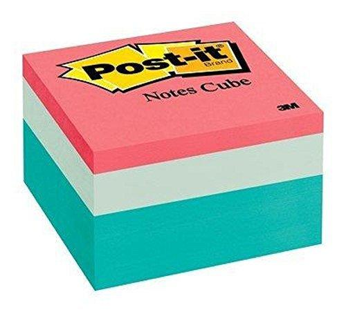 Post-It Notes Cube, 3 In X 3 In, Seafoam Wave, 490 Sheets/Cube (2056-Pp)