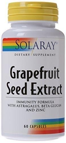 Solaray Grapefruit Seed Extract Immunity Formula Capsules, 250 Mg, 60 Count