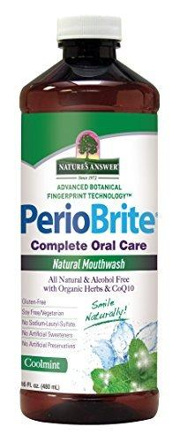 Natures Answer Periowash Alcohol - Free Mouthwash - Cool Mint - 16 - Ounce