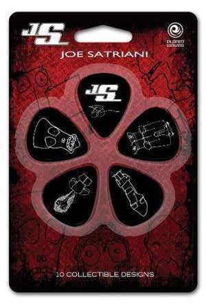 D'Addario Planet Waves Joe Satriani Guitar Picks, Black, 10 Pack, Medium