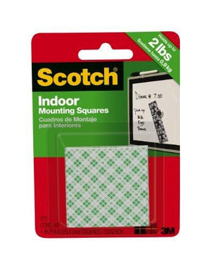 3M Scotch Indoor Mounting Squares 1Inch 48Square