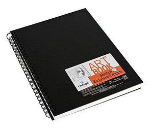 Canson Artist Series Wire Bound Sketch Book, 80 2-Sided Pages, 9 By 12-Inch