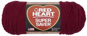 Red Heart E300.0376 Super Saver Economy Yarn, Burgundy
