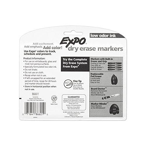 Expo Low Odor Dry Erase Pen-Style Markers, 8 Colored Markers (86601)