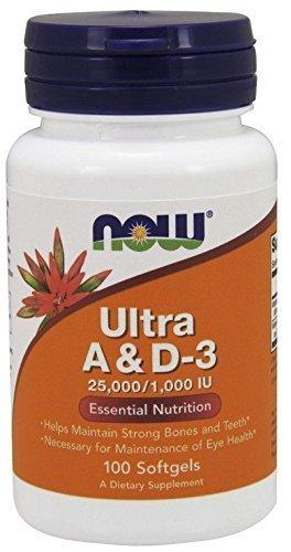 Now Foods Ultra A & D3 25,000/1,000 Iu,100 Softgels