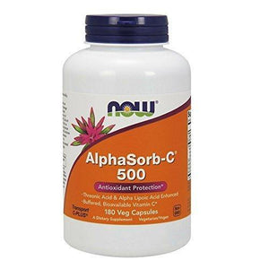 Now Foods Alphasorb-C 500 Mg,180 Capsules