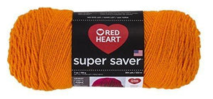 Red Heart E300.0254 Super Saver Economy Yarn, Pumpkin