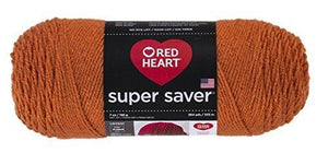 Red Heart E300.0256 Super Saver Economy Yarn, Carrot