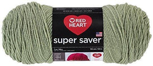 Red Heart E300.0661 Super Saver Economy Yarn, Frosty Green