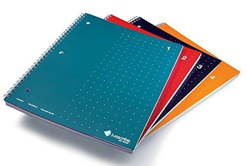 Livescribe 8.5X11 Single Subject Notebook - 4 Pack