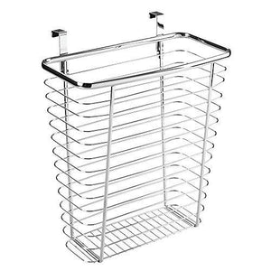 Interdesign Axis Over The Cabinet Wastebasket Trash Can Storage Basket - Chrome