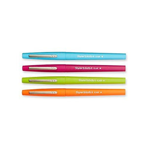 Paper Mate Flair Tip-Guard Medium Tip Felt Porous Pens - 4 Colored Pens