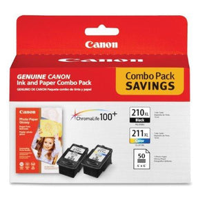 Canon Pg-210 Xl And Cl-211 Xl Ink And Glossy Photo Paper Combo Pack